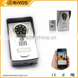 HD 720P camera PIR detection Android/iOS APP Two-way intercom wifi video door phone with photo memory