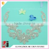 HC-3635 Hechun A Quality Sewing Neckline Rhinestone Applique for Bridal