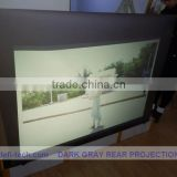 Dark grey color front projection film ,holographic Projection screen for window advertisig!!