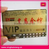 Gold supplier high quality cut out effect metal business card