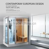 FC-SN02 wholesale steam room girl sauna shower room tempered glass shower cabin
