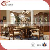 Dining room Furniture/ China manufacture hand craft oak wood dining table and dining chairs A14