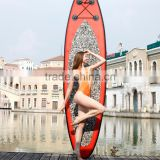 11' inflatable surfing paddle board sticked EVA board ,surf core paddle boards