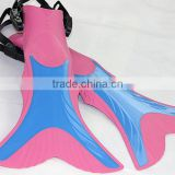 hotest mermaid fins for kids swimming and diving soft rubber mono fins and flippers