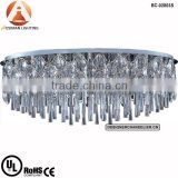 Jewel 23-Light Flush Mount Ceiling Fixture in Chrome Plated with Crystal Shade