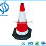 Rubber Traffic Cone Used on Road