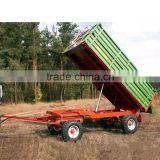 High quality 7CX-8T Heavy duty 8 Ton Hydraylic tipping Agricultural Trailer for 60-90HP Tractor