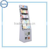 16 pegs paperboard stand/ cardboard display stands with hooks/ plastic bags display rack