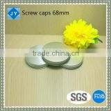68mm metal, aluminum plastic Srew lids for olive oil, spice, cosmetic, candy, honey, jam jar