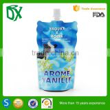 Hot sell color printing wholesale squeeze pouch with spout for baby liquid food in factory