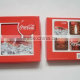 OEM coaster set cardboard cork coaster for promotional gift, tea coaster with paper box packing
