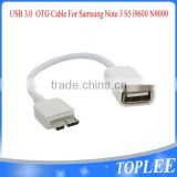 Wholesale OTG Cable USB 3.0 White OTG Host Flash Disk Cable For Samsung Note 3 S5 i9600 N9000