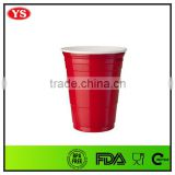 16 oz reusable red plastic party cup