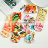Light up sublimations girls printing socks wholesale colorful batterfly 100 polyester socks