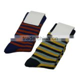 GSM-141 Hot Wholesale Custom Colorful Striped Name Brand Men Bamboo Business Socks