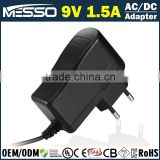 9V 1.5A Vacuum Cleaner Adapter 13.5W Cast Iron Cleaner Adapter
