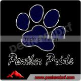 Wholesale Panther Pride with Paw Iron on Rhinestone Custom Transfer Crystal Bling for Clothes