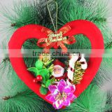 Peach Hearts/House/Circle/Five-Pointed Star Christmas Tree Ornament Hanging Decorations