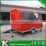 China Commercial Street Mobile Restaurant Food Vending Cart Ice Cream Carts/ Fried Ice Cream Carts
