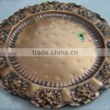 Antique Copper Charger Plates and Wall decor plates