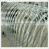 Low price concertina razor barbed wire, razor blade barbed wire, military concertina wire