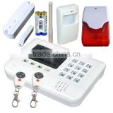 Hot product! GSM Security Alarm with 16 wireless zone with PIR detector, door sensor, siren with two way communicate