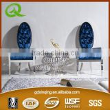 modern heat selling modern dining table marble round dining table glass cover dining table