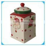 Ceramic christmas sugar bowl