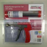 Cable tie cutting gun set