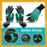 Unisex Garden Genie Gloves with Claws 3/4 Rubber Latex Coated Glove for Digging & Planting