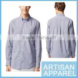 Wholesale & OEM 2017 latest design Men's 100% Cotton Plaid Casual Long Sleeve Shirt