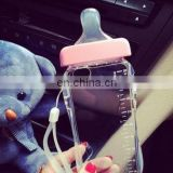 Transparent Cute Cartoon Baby Nipple Milk Bottle Mobile Phone Cases TPU Phone Cover With Lanyard For iPhone