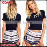 New Style Custom Any Size Summer Beach Women Mix Color Shorts Printed Casual Short Lady Pants