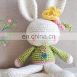hot sale handmade delicate knitted crochet rabbit toy