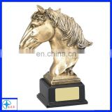 customized gold resin horse head trophy