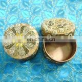 Decorative round jewelry boxes