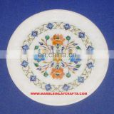 Marble Inlay Plate Home Decorative Plate