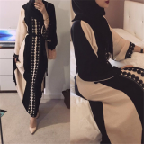 Ramadan Fashion Lace Dress Muslim Eid Abaya