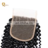 8A Human Brazilian virgin Hair Lace Closure 4*4 Silk base Jerry Curly natural color