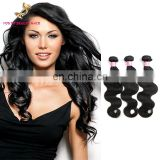 Youth Beauty Hair High feedback brazilian virgin human hair weaving in body wave style 9A grade cuticle aligned hair