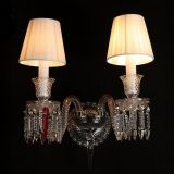Crystal wall lamp 2L indoor home K9 crystal lighting used in villa, living room