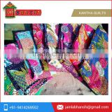 Tropicana Kantha Quilts Handstiched Kantha Work Bed Cover Throw Ralli Indian wholesale Handmade