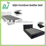 Modern Style Hot Sale Leather Bed Wood Double Bed Designs With Box                                                                         Quality Choice