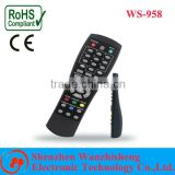 learning or universal remote control for TV with Jumbo keys and case for EU,UK, South Africal