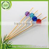 Low price good quality cocktail bamboo green tape skewer sticks