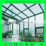 China supplier 4-12mm standard size tempered building glass for balcony railing with competitive price
