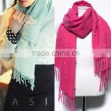 Wholesale New Tassel Wool Acrylic Pearl Fashion Ladies Shawls and Scarves Pashmina