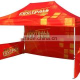 10x10 outdoor printed advertising aluminum pop up canopy tent in water proof fire resistance fabric