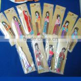 Newest souvenirs of traditional Chinese beauty girls design small wooden hair comb 12 figures mixed