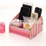 High quality Makeup Cosmetic Holder wood Stationery Organizer home Remote Control Storage Box